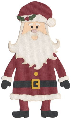 QUICKUTZ We R Memory Keepers 4-Inch by 4-Inch Die, Santa