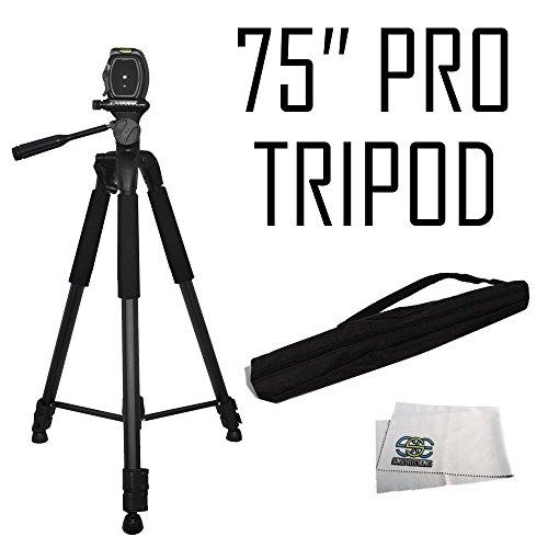 Professional 75-inch Tripod 3-way Panhead Tilt Motion with B