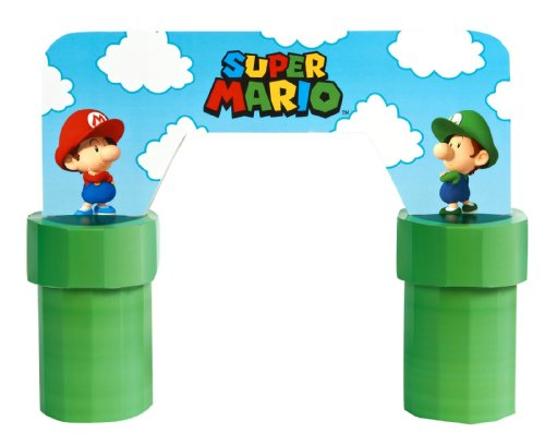 [Super Mario Bros Babies Party Supplies Centerpiece] (Toadstool Costume Mario)