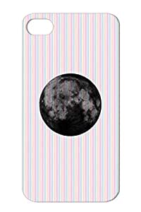 Moon Black Animals Nature Night Moon Miscellaneous Full Galaxy Grunge Nature For Iphone 4/4s Protective Case
