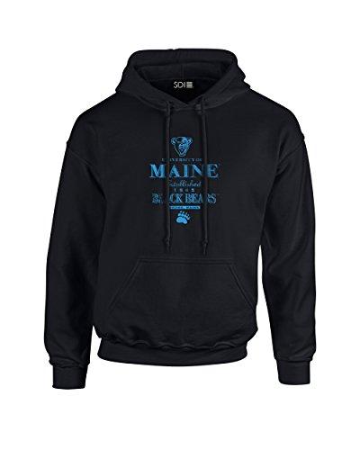 NCAA Maine Black Bears Stacked Vintage Long Sleeve Hoodie, X-Large, Black ()