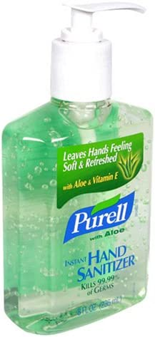 Purell Instant Hand Sanitizer With Aloe 8 Fl Oz 236 Ml Amazon