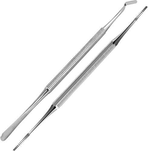 Toe Nail File & Toe Nail Lifter - Premium Grade Stainless Steel Construction - For Salon and Home Use