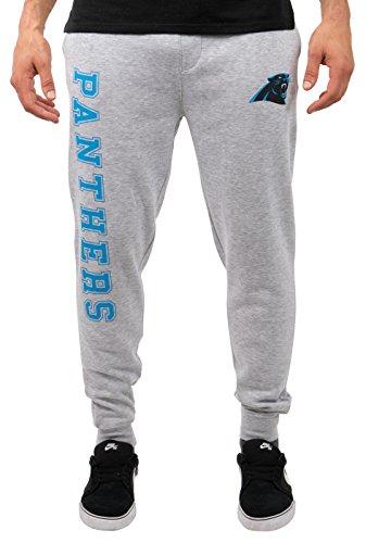 NFL Carolina Panthers Men's Jogger Pants Active Basic Fleece Sweatpants, Large, Gray