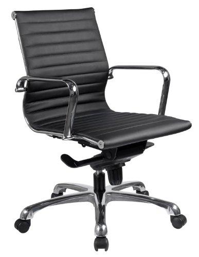 Executive Mid Back Chair with Chrome Frame