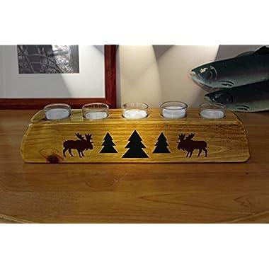 Rustic Cabin/Lodge Decor Moose River Votive Candle Holder