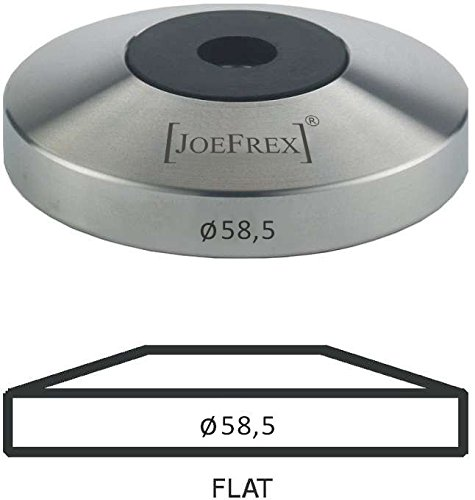 Tamper Base Flat 58.5 stainless steel with 8mm thread compatible with all our Handles by [JOEFREX]