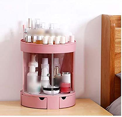 LMM Caja de Almacenamiento de cosméticos con Puerta corredera, Tipo de cajón Transparente para cosméticos, Adecuado para perfumes, lápiz Labial, joyería, Sala de Estar del Dormitorio,Pink: Amazon.es: Hogar