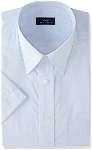 8サイズ 吸水速乾 ブルー 形態安定 半袖 DHWW01 メンズ