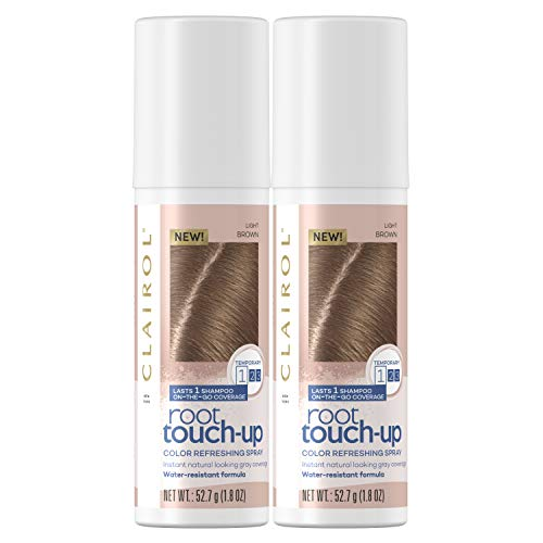 Clairol, Root Touch Up Spray, Special Value Twin Pack, Light Brown, 2 Pack