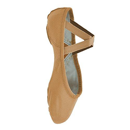 lona zapatos de 210 Bloch de Flesh Proflex ballet qBtwR6zI