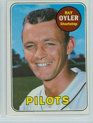 amazon com 1969 topps baseball 178 ray oyler seattle pilots near