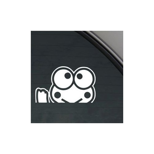 Keroppi-Hello-Kitty-Waving-White-Color-Vinyl-Window-Notebook-Bike-Die-Cut-Macbook-Decoration-Wall-Art-Car-Helmet-Home-Decor-Car-Laptop-Wall-Auto-Adhesive-Vinyl-Decor-Sticker