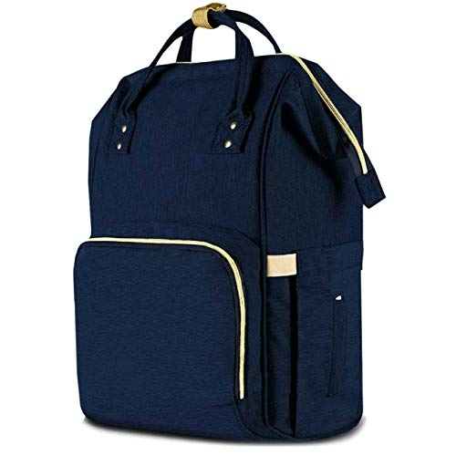 Diaper Bag Backpack Baby Bag Multifunction Maternity Travel Changing Pack – Water Resistant Nappy Tote (Navy)