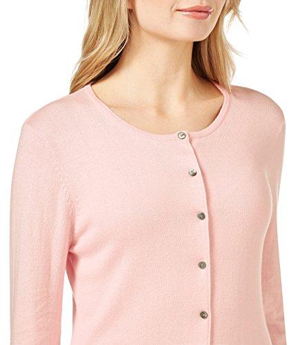 WoolOvers Cardigan à col rond - Femme - Soie & Coton Pale Pink, XL