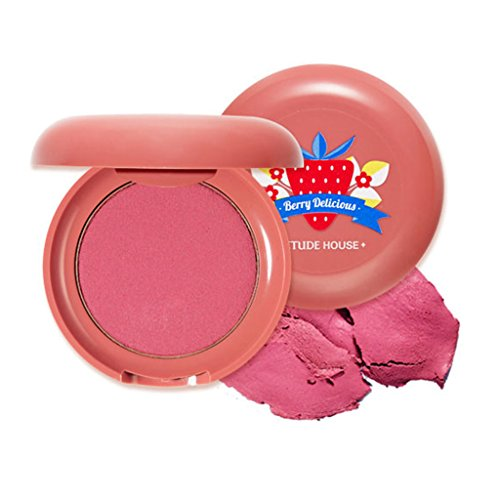 ETUDE HOUSE Berry Delicious Cream Blusher 6g (#4 Soft Rose Strawberry) - Moist Cream Cheek for a Lovely Look, Daily Natural Color