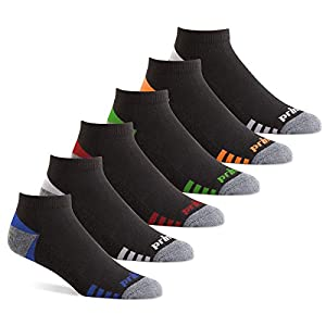 Prince Men's Low Cut Performance Athletic Socks for Running, Tennis, and Casual Use (6 Pair Pack)