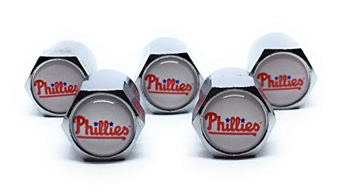 - Buycleverly Philadelphia Phillies Metal Tire Valve Stem Caps Set/5 Pcs for Cars Sedan SUVs Compacts Luxury Pickups Truck Motorcycles
