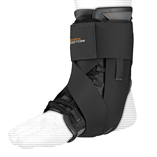 Shock Doctor Adult Ultra Wrap Lace Ankle Support, X-Small, Black