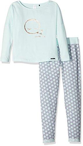 Skiny Mädchen Zweiteiliger Schlafanzug 036234, Mehrfarbig (Aqua Glass 7904), 164