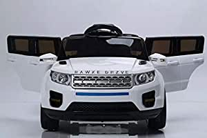 Reliance 12V Range Rover style Kids Ride on Car White with Power Steering