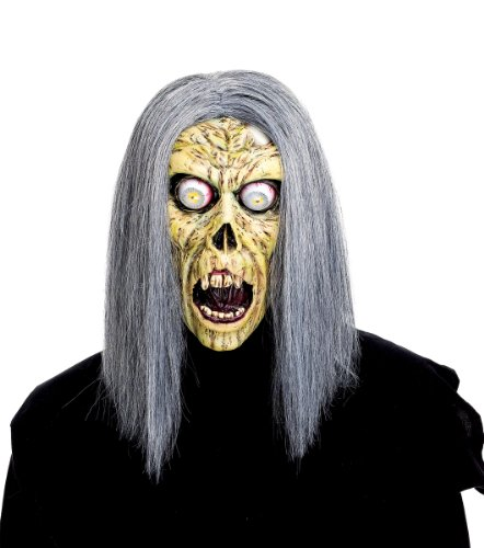 [Paper Magic Men's Don Post Studios Foam Face Sightless Mask, Green, One Size] (Scary Face Paint Halloween Costumes)