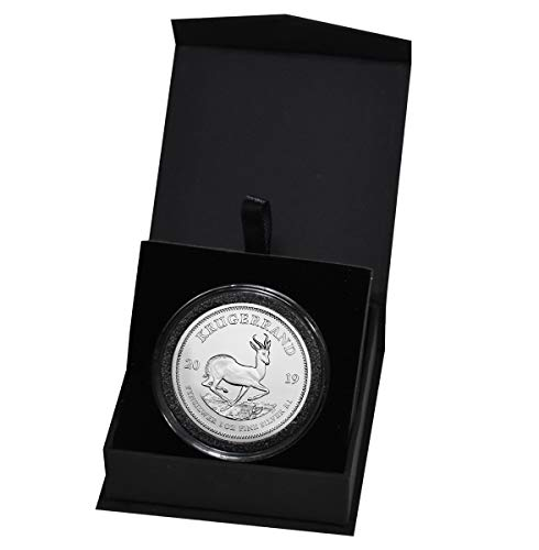2019 ZA South African Krugerrand 1 Troy Oz Silver Bullion in Capsule and Presentation Box 1 Rand Brilliant Uncirculated ()