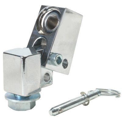 Chromed Billet Aluminum Bolt On Fold Down Whip Antenna Mount For Use With Tab Ac755150 ()
