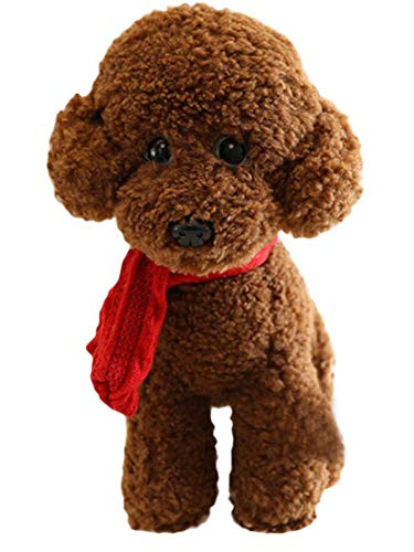 (BRCTOYS Poodle Plush Toy Puppies Stuffed Animals Dogs with Scarf 9