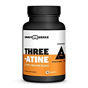 Creatine Monohydrate Pills Proven Muscle Builder 1,667 mg Tablets (138% More Than Capsules) Over 5,000mg (5g) of Creatine Monohydrate, Pyruvate + AKG per Serving Optimum Strength Supplement