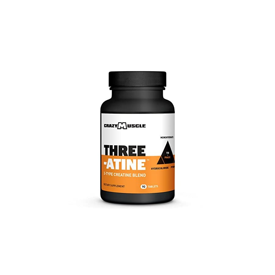 Creatine Monohydrate Pills Proven Muscle Builder 90 Tablets (Better Than Capsules) with Over 5,000mg (5g) of Creatine Monohydrate, Pyruvate + AKG per Serving Optimum Strength Supplement