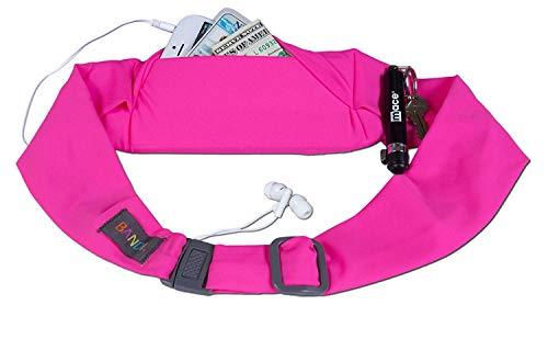 BANDI Unisex Secure Running Belt with Adjustable Straps, Classic Pocket (Fuchsia)