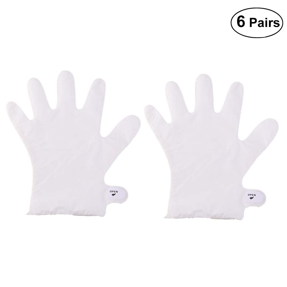 Healifty Hands Whitening Gloves 6 Pairs Hand Mask Exfoliating Mask for Dry Hands Peeling Nourish Moisture Whitening Cream Hands Gloves for Dry Hand Spa Sensitive Skin Moisturizing