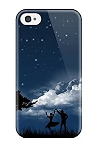 High Quality Romantic Couple In Moon Night Love Tpu Case For Iphone 4/4s