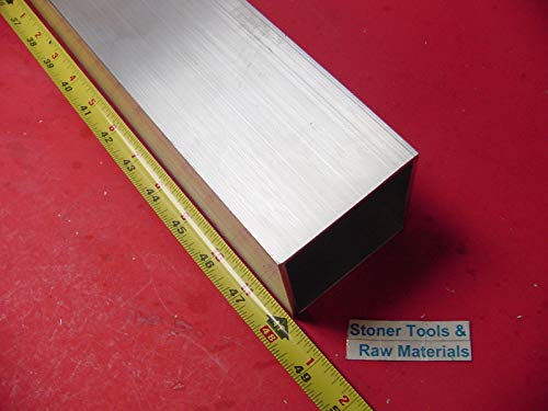 3''x 3''x 1/8'' Wall x 48'' Long Aluminum Square Tube 6063 T52 3'' SQ x .125''