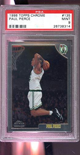 1998-99 Topps Chrome 135 Paul Pierce ROOKIE RC MINT PSA 9 Graded Basketball Card