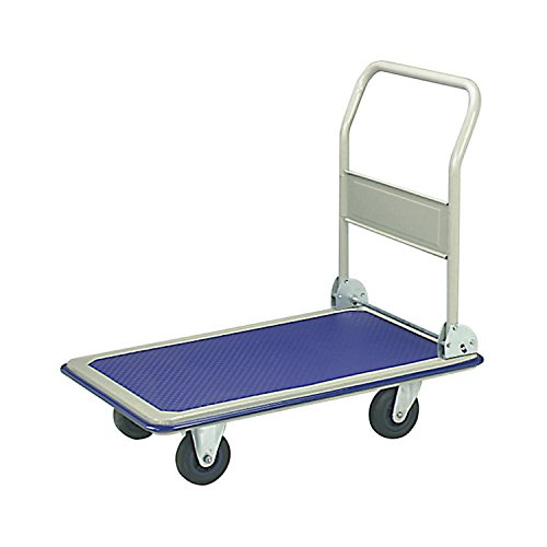 Industrial Platform (ALEKO PH330BL Heavy Duty Push Hand Truck Folding Platform Cart 4 Wheel Dolly, Blue)