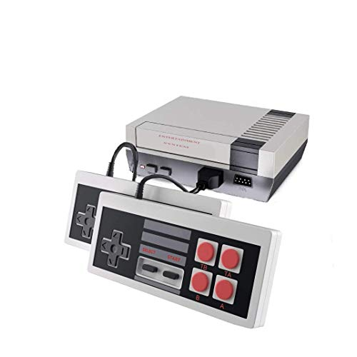 Classic Retro Game Console, AV Output NES Console Built-in 620 Classic Video Games for Kids Gift Birthday Gift