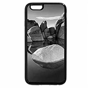 iPhone 6S Case, iPhone 6 Case (Black & White) - Mountain Rock Pond