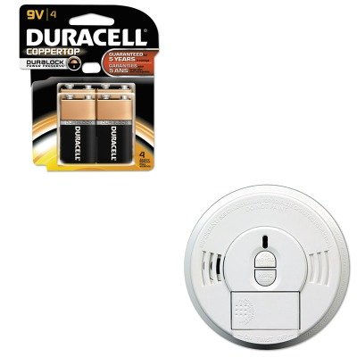 KITDURMN16RT4ZKID09769997 - Value Kit - Kidde Front-Load Smoke Alarm w/Mounting Bracket (KID09769997) and Duracell CopperTop Alkaline Batteries with Duralock Power Preserve Technology (DURMN16RT4Z)