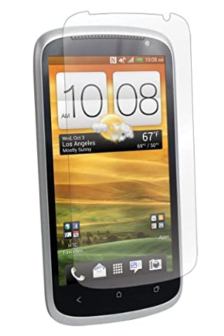 BodyGuardz BZ-UHVX-1112F UltraTough Optically Clear Screen Protectors with Anti-Microbial-Gel/Dry Apply for HTC One VX - 2 Pack - Retail Packaging - (Screen Protector Htc One Vx)