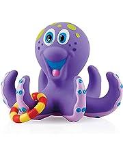 Nuby ID6144AN Kinderspeelgoed, Drijvende Octopus Met 3 Ringen, Octopus En Ringen Drijven Op Het Water, Voor Kinderen Vanaf 18 Maanden, Paars, 12.5 x 14.6 x 16.7 cm