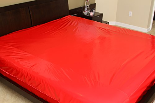 Nuru Mattress Protector Nuru Sheet Waterproof Red King