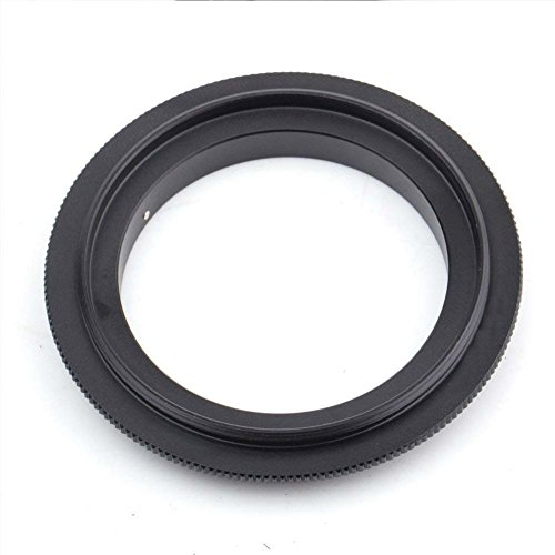 (AKOAK 58mm Diameter Filter Thread Lens Macro Reverse Ring Adapter for Nikon DSLR Camera)