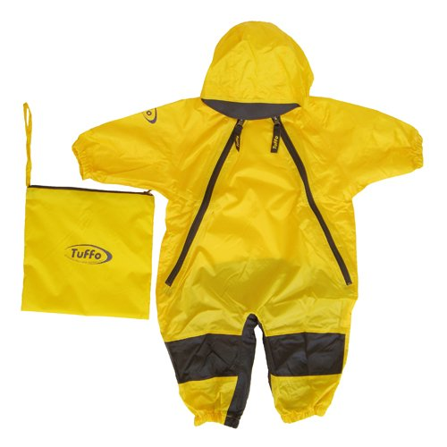 Tuffo Little Boys' Toddler Muddy Buddy Overalls, Yellow, 2T