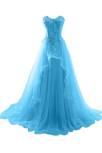sposa lungo ivyd sera da pizzo di da Dunkelblau ballo abito abiti Donna vestiti Roman a tavolo da forma ressing cuore qB7xqZ