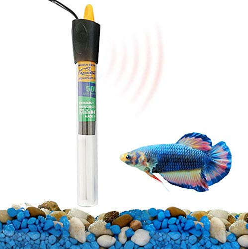 Terra Fish Tank Fully Submersible Silica Aquarium Heater Durable Maintains Stable Water Temperature for Bettas Automatically 1 Pack Waterproof /& Shatterproof 50 Watts