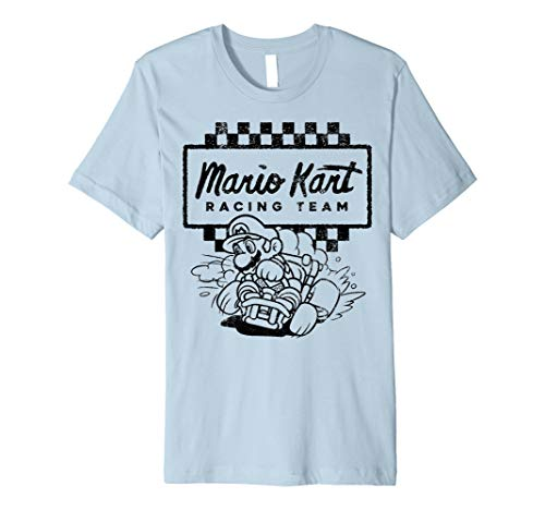 Mario Kart Racing Team Outlined Mario Drift Premium T-Shirt