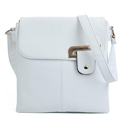 Craze London - Shoulder Bag Leatherette White Woman