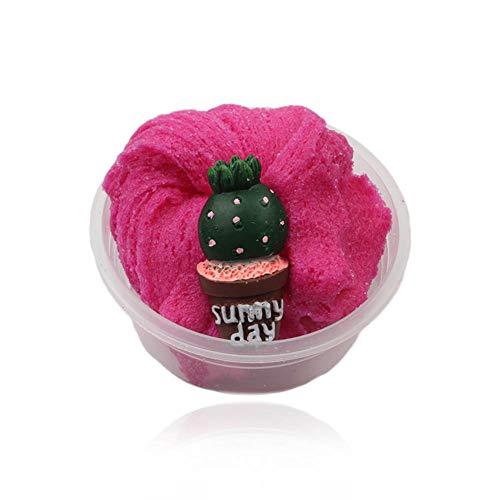 スライムキット - Aolvoストレスリリーフ非粘着性のかわいい雲粘液、香りのふわふわのパテ教育のおもちゃ&子供と大人のための解凍おもちゃ